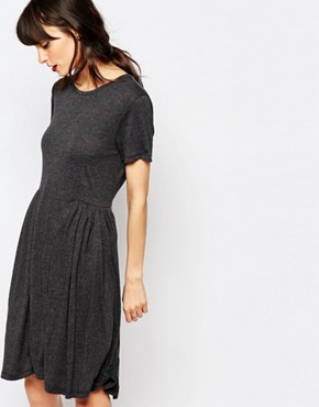 photo Imani Smock Dress in Jersey by Just Female, color Anthracite Melange - Image 1