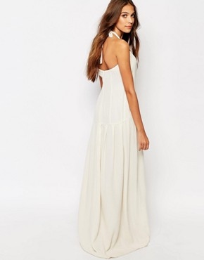 photo Paisley Button Front Maxi Dress by Flynn Skye, color Cream Brulee - Image 2