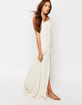 photo Paisley Button Front Maxi Dress by Flynn Skye, color Cream Brulee - Image 1