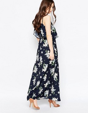 photo Oversized Floral Maxi Dress by Girls on Film, color Black - Image 2