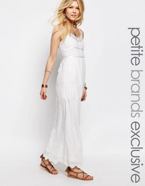 photo All Over Lace Maxi Dress by White Cove Petite, color White - Image 1
