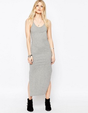 photo Ladder Back Maxi Dress by Noisy May Petite, color Grey Marl - Image 2