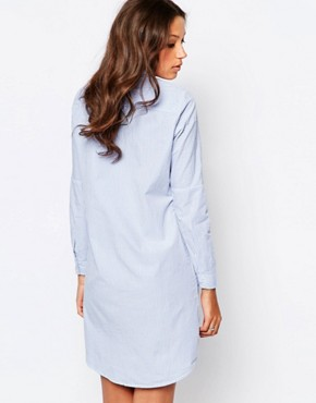 photo Long Sleeve Shirt Dress by Noisy May Tall, color Pale Blue - Image 2