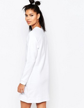 photo Luxury Long Sleeve Dress with Splatter Print by Nike, color Off White - Image 2