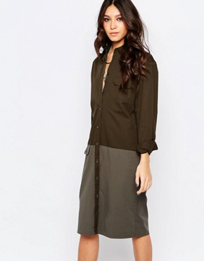 photo Utility Dress by Northmore Denim, color Green - Image 1