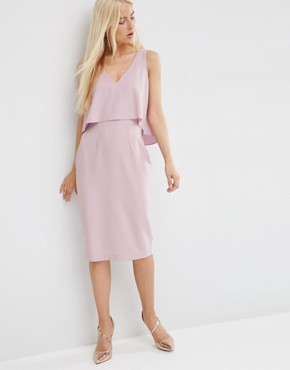 photo Double Layer Pencil Dress by ASOS, color Lilac - Image 1