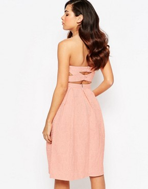 photo Rainbow Drop Midi Prom Dress by Lashes of London, color Peach - Image 2