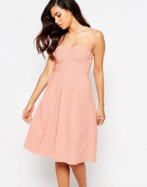 photo Rainbow Drop Midi Prom Dress by Lashes of London, color Peach - Image 1