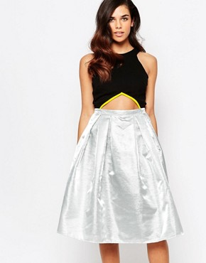 photo Riley Metallic Midi Prom Dress by Lashes of London, color Metallic - Image 1