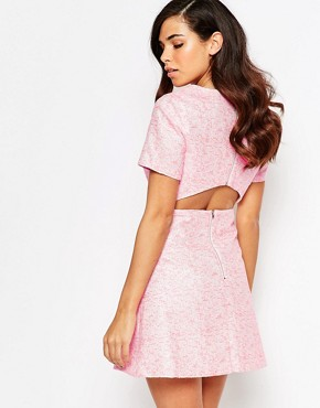 photo Lolly Jacquard Shift Dress by Lashes of London, color Pink - Image 2