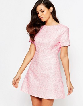 photo Lolly Jacquard Shift Dress by Lashes of London, color Pink - Image 1