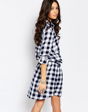 photo Check Shirt Dress by Pimkie, color Multi - Image 2
