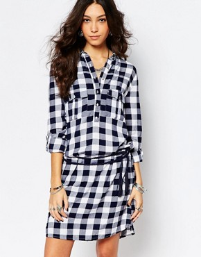 photo Check Shirt Dress by Pimkie, color Multi - Image 1