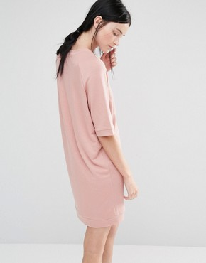 photo Half Sleeve Sweat Dress by One Day Tall, color Blush - Image 2