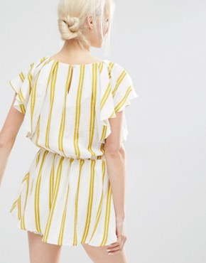 photo Dress with Ruffle Sleeves in Summer Stripe by I Love Friday, color Multi - Image 2