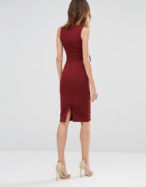 photo Superstition Plunge Dress by Finders Keepers, color Brick - Image 2