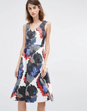 photo Oversized Floral Prom Dress by Warehouse Premium, color Multi - Image 1