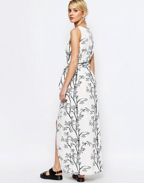photo Printed Maxi Dress by Neon Rose, color Mono - Image 2
