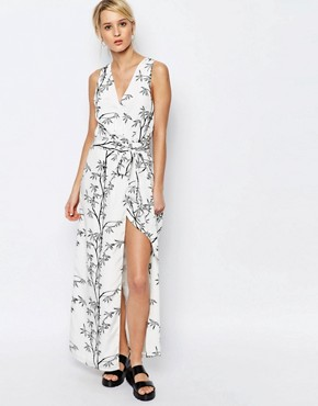 photo Printed Maxi Dress by Neon Rose, color Mono - Image 1