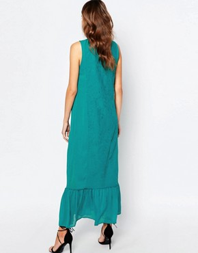 photo Embroidered Maxi Dress by Sisley, color Tourquise - Image 2