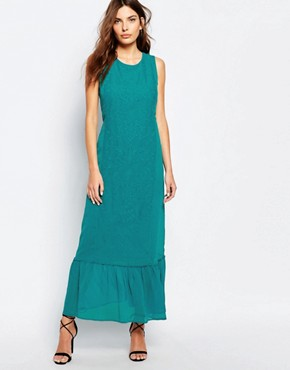 photo Embroidered Maxi Dress by Sisley, color Tourquise - Image 1