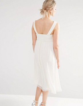 photo Lace Skater Dress by Little Mistress Maternity, color Cream - Image 2