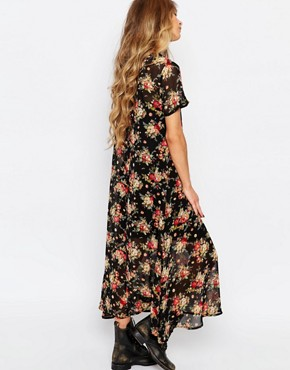 photo Sheer Floral Maxi Dress by ebonie n ivory, color Multi - Image 2