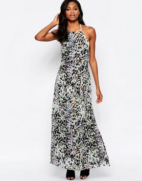 photo Elegance Maxi Dress with Low Back in Leopard Print by Goldie, color Multi - Image 1