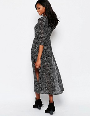 photo Karley Maxi Dress in Spot Print by Goldie, color Black - Image 2