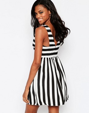 photo Mean Gal Striped Dress with Cut Out Detail by Goldie, color Multi - Image 2