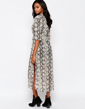 photo Karley Maxi Dress in Snake Print by Goldie, color Grey - Image 2