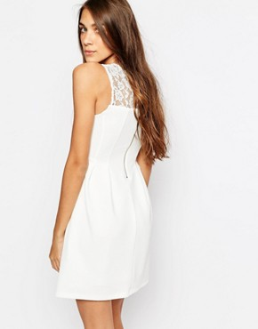 photo Lace Insert Skater Dress by Pimkie, color White - Image 2