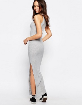 photo Ribbed Maxi Dress by JDY, color Grey - Image 2