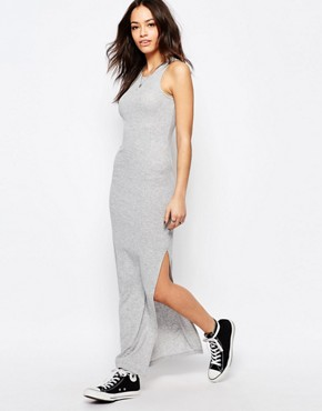 photo Ribbed Maxi Dress by JDY, color Grey - Image 1