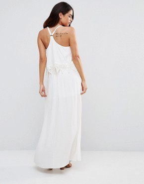 photo Lace Halter Dress by JAPONICA, color White - Image 2