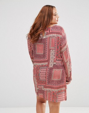 photo Shift Dress in Scarf Print by Diya Plus, color Multi - Image 2