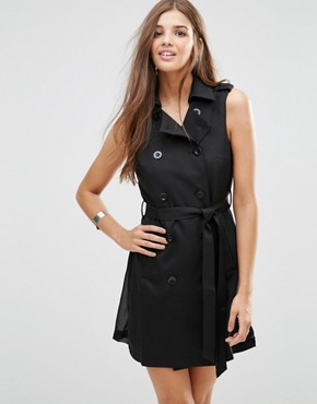 photo Sleevless Cross Over Dress by Girls on Film, color Black - Image 1