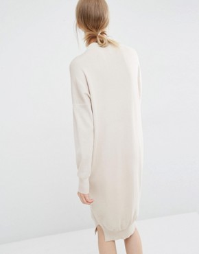 photo Jumper Dress with Funnel Neck by Paisie, color Cream - Image 2