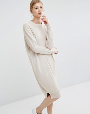 photo Jumper Dress with Funnel Neck by Paisie, color Cream - Image 1