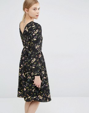 photo Knee Length Smock Dress in Floral by Paisie, color Multi - Image 2