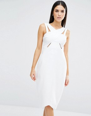 photo Parallel Dress by Stylestalker, color White - Image 1