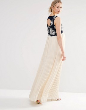 photo 2 in 1 Embellished Maxi Dress with Cut Out Back by Maya Maternity, color Multi - Image 2