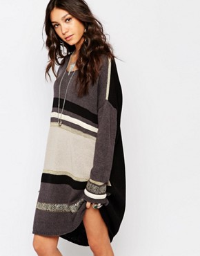photo Marseille Knitted Dress by One Teaspoon, color Grey - Image 1