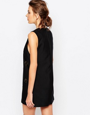 photo Shift Dress with Hardware by C/meo Collective, color Black - Image 2