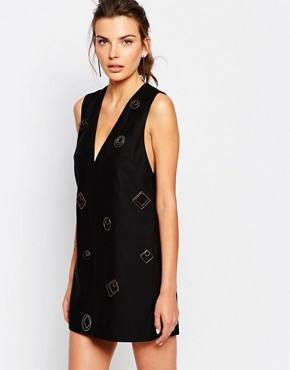 photo Shift Dress with Hardware by C/meo Collective, color Black - Image 1