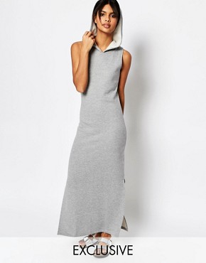photo Maxi Dress with Hood by Nocozo, color Grey - Image 1