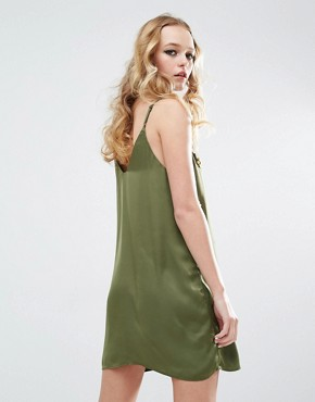 photo Festival Cami Dress with Embelishment by Native Rose, color Khaki - Image 2