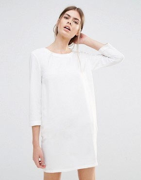 photo Shift Dress with Lattice Back by See U Soon, color Off White - Image 2