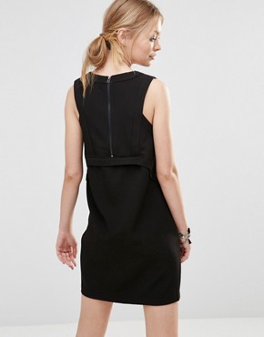 photo Shift Dress with Open Neck by See U Soon, color Black - Image 2