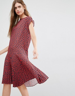 photo Drop Waist Half Heart Print Dress by PS by Paul Smith, color Red - Image 1